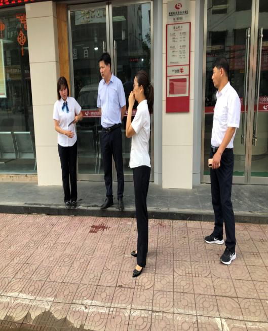 郸城联社监事长赵峰山到南丰信用社指导防汛工作